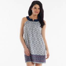 My Beloved Notch-Neck Paisley Print Dress
