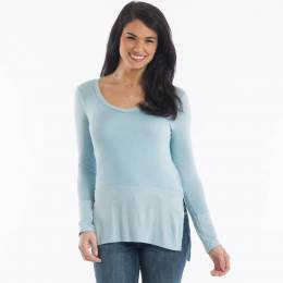 My Beloved Ribbed Hem Top in Blue