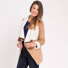 Mia + Tess Designs ™ Faux Sherpa Jacket