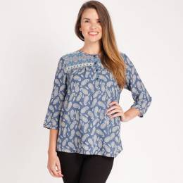 Mia + Tess Designs ™ Paisley Printed Top