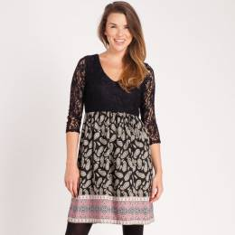 Mia + Tess Designs ™ Lace Top Paisley Dress
