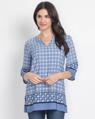 Exclusive Blue Tile Tunic