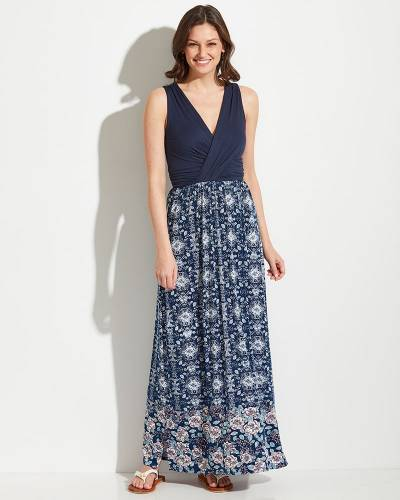 Exclusive Floral Hem Maxi Dress