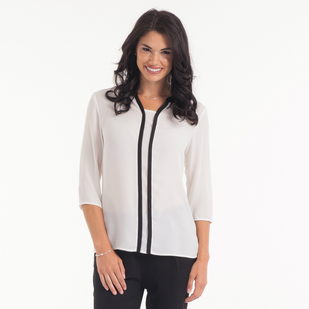 Misia Black-Trim Tunic