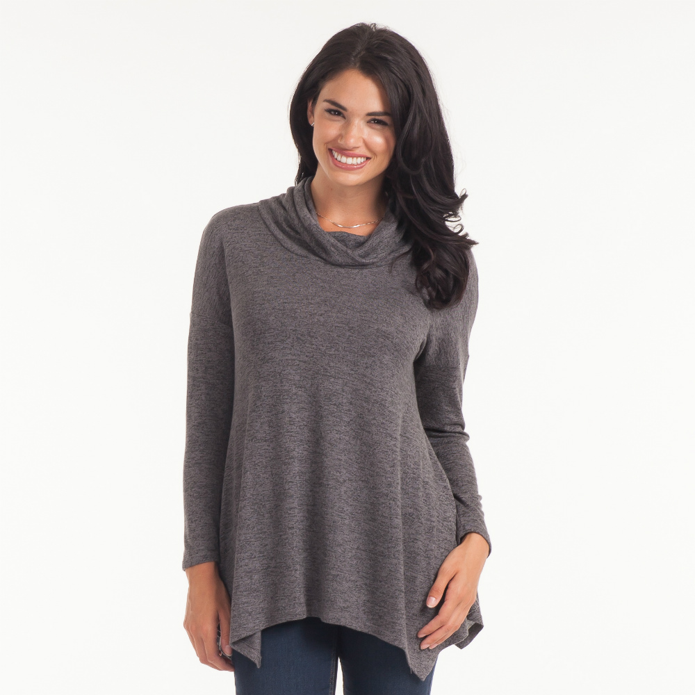 Misia Brushed Cowl Neck Tunic