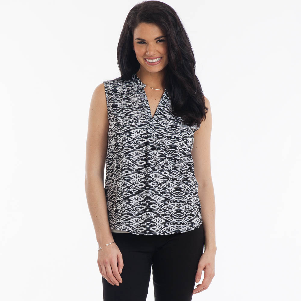 Misia Aztec Print Tank in Black and White