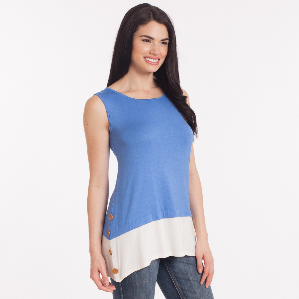 Misia Layered Button Tank Top