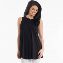 Misia Sleeveless Swing Tunic in Black