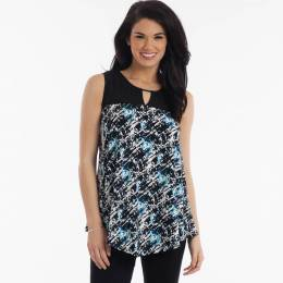 Misia Abstract Print Top