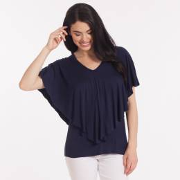 Misia Layered Top in Navy Blue