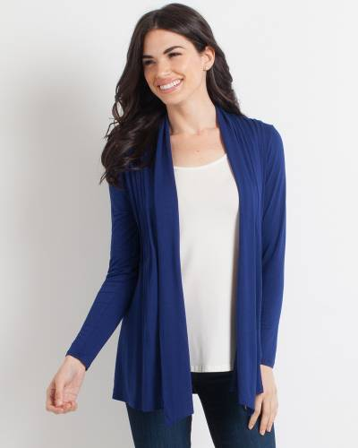 Pleated Waterfall Cardigan
