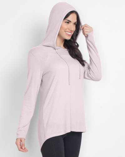 Exclusive Soft Brushed Hoodie in Pink