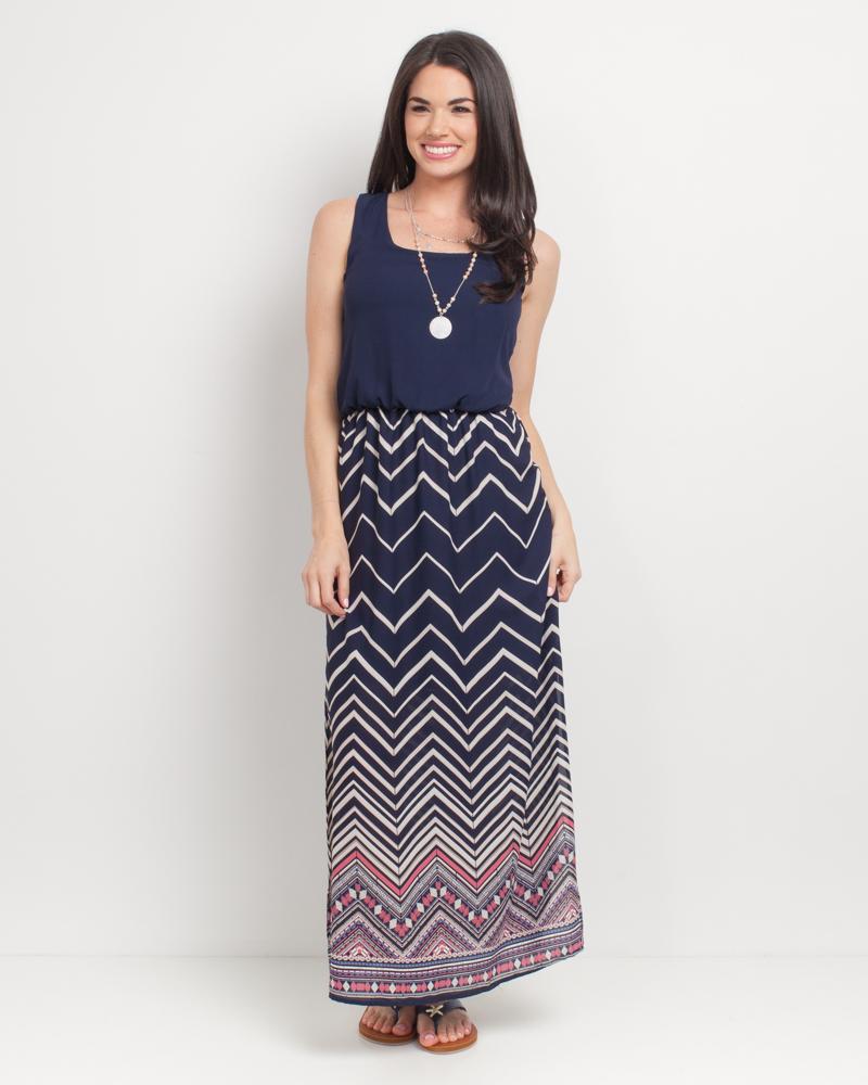 be2315828c Mia + Tess Designs ™ Exclusive Zig Zag Maxi Dress | The Paper Store
