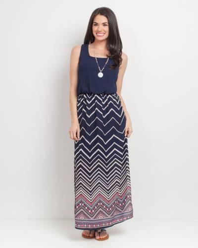 Exclusive Zig Zag Maxi Dress