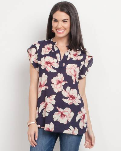 Exclusive Navy and Pink Floral Top