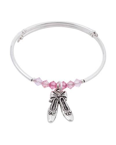 Ballet Shoes Charm Bracelet