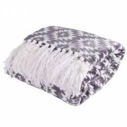 Northpoint Trading Velvet Fringe Throw Blanket