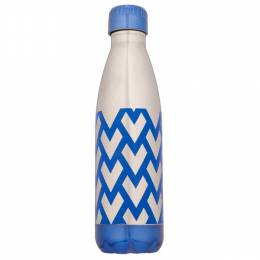 Northpoint Trading Blue Geometric Stainless Steel Water Bottle