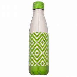 Northpoint Trading Green Geometric Stainless Steel Water Bottle