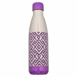 Northpoint Trading Purple Geometric Stainless Steel Water Bottle