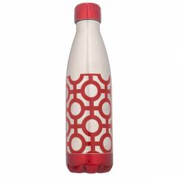 Northpoint Trading Red Geometric Stainless Steel Water Bottle