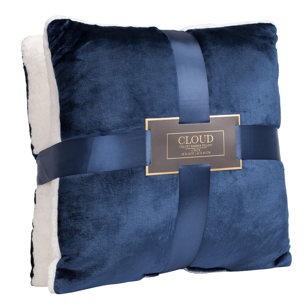 Northpoint Trading Cloud Velvet Berber Sherpa Pillow Set (Set of 2)