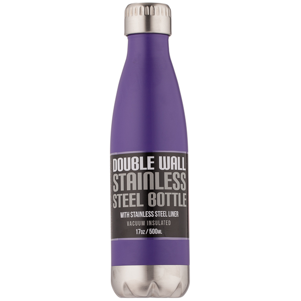 Northpoint Trading Matte Stainless Steel Purple Water Bottle