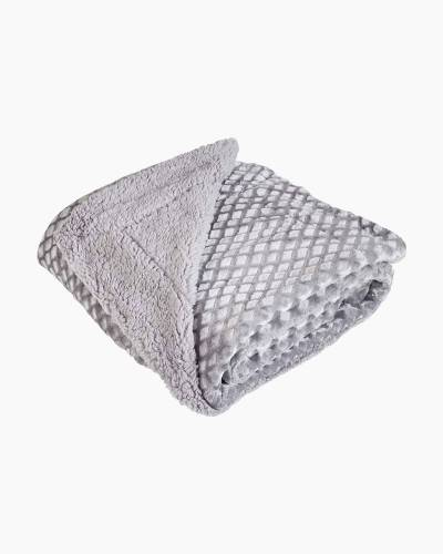 Diamond Etched Velvet Throw Blanket