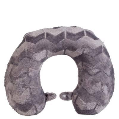Chevron Etched Velvet Neck Pillow
