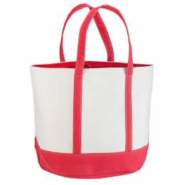 Northpoint Trading Canvas Tote in Red