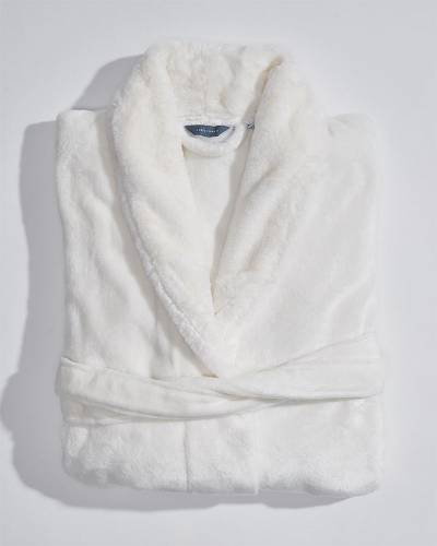 Exclusive Fur Trim Bath Robe