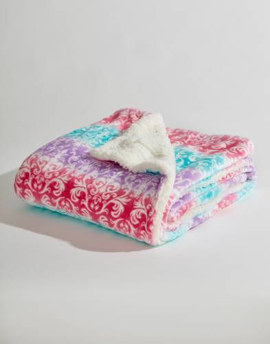 Exclusive Pastel Floral Luxury Sherpa Throw