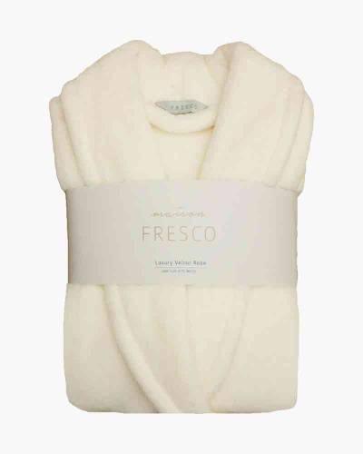Maison Fresco Luxury Jacquard Robe in White