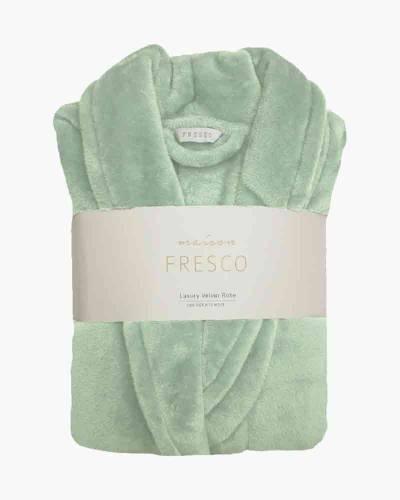 Maison Fresco Luxury Jacquard Robe in Green