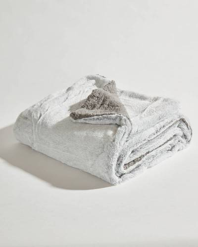 Exclusive Luxury Sherpa Throw in Grey