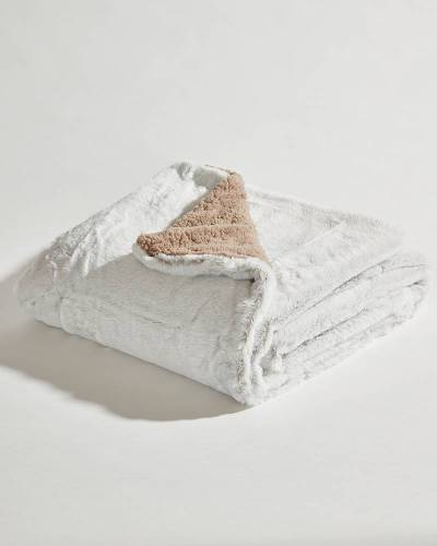 Exclusive Luxury Sherpa Throw in Tan