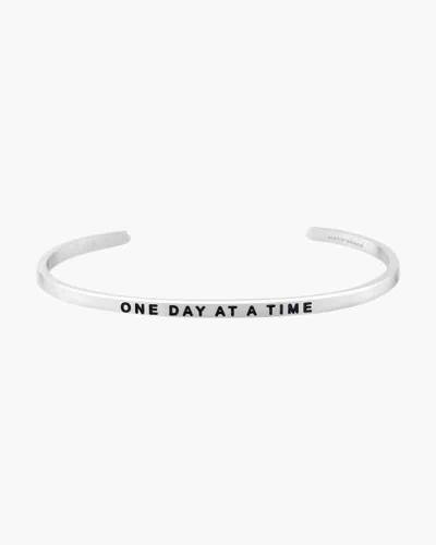 One Day at a Time Silver Bracelet