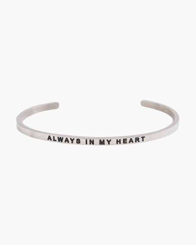 Always in My Heart Silver Bracelet