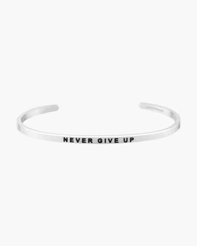 Never Give Up Silver Bracelet