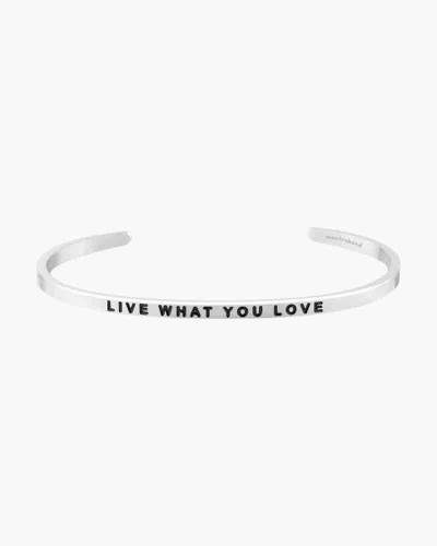 Live What You Love Silver Bracelet