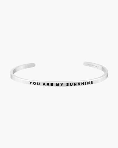 You Are My Sunshine Silver Bracelet
