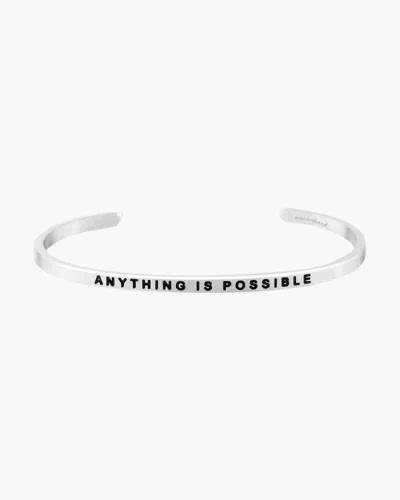 Anything is Possible Silver Bracelet
