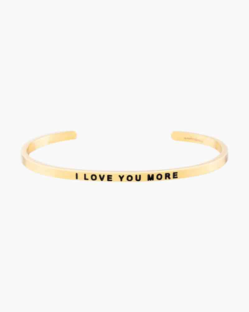 Mantraband I Love You More Gold Bracelet