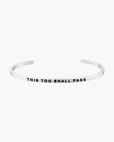 This Too Shall Pass Silver Bracelet