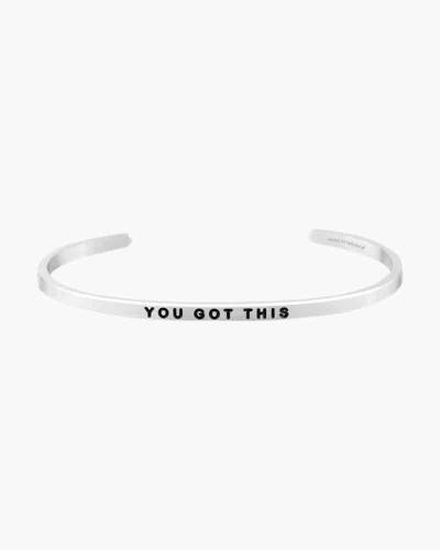 You Got This Silver Bracelet
