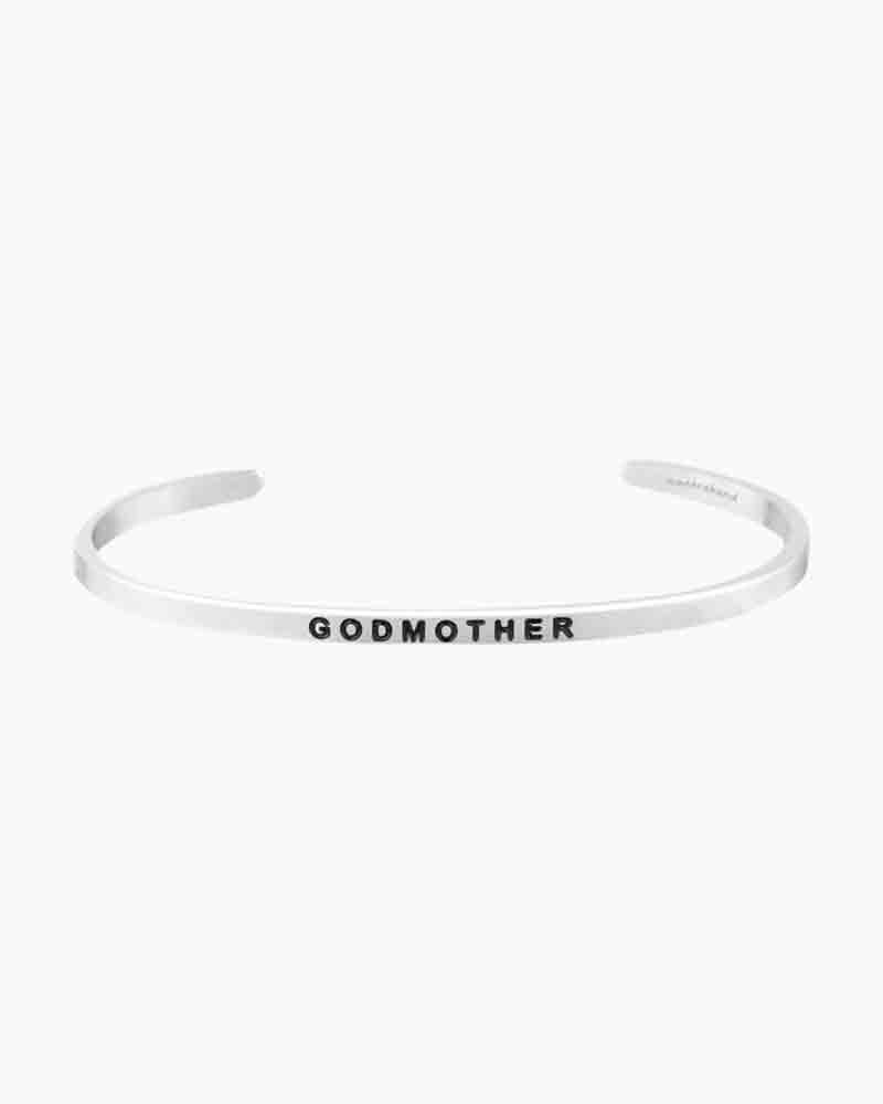 Mantraband Godmother Silver Bracelet
