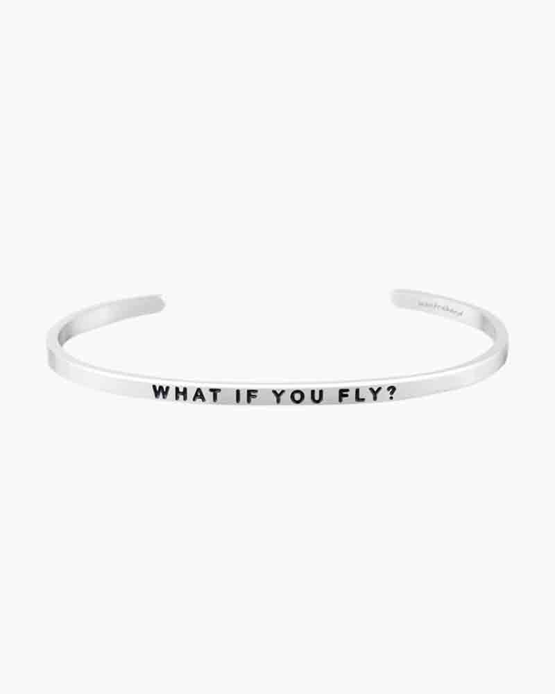 Mantraband What if You Fly Silver Bracelet