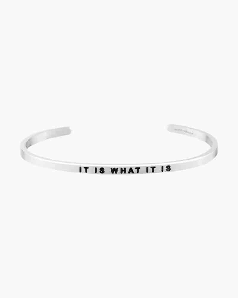 Mantraband It Is What It Is Silver Bracelet