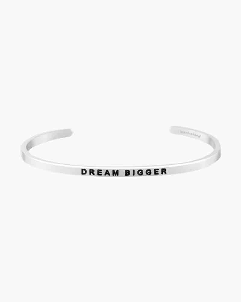 Mantraband Dream Bigger Silver Bracelet