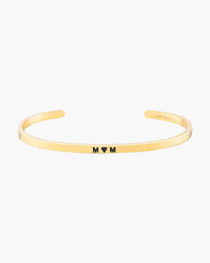 Mantraband Exclusive Heart Mom Gold Bracelet